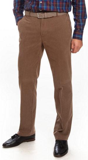Bruhl Cashmere Feel Cotton Trouser - Dark Beige