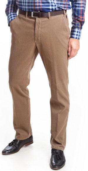 Bruhl Venice B Turn Cotton Trouser - Fawn Brown