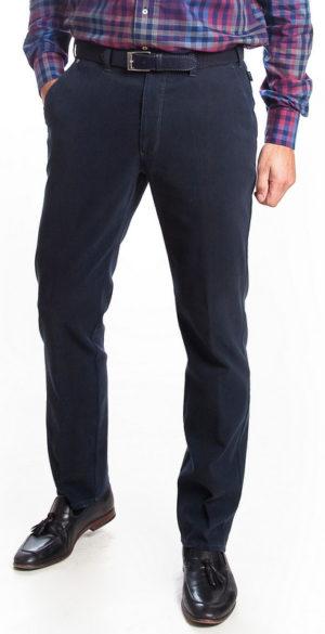 Bruhl Venice B Turn Cotton Trousers - Navy