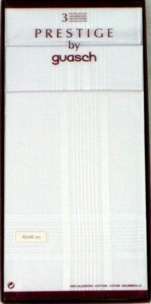 Guasch Large  Prestige 3 Pack Handkerchiefs* BCO