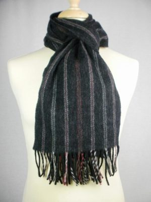 John Hanly & Co Ltd Lambswool Wide Rope Effect Scarves