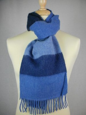John Hanly & Co. Ltd Lambswool Blocked Stripe Scarves