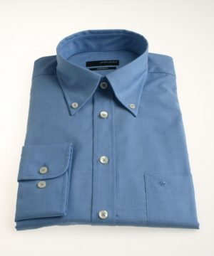 Seidensticker Splendesto Button Down Long Sleeve Shirt - Blue