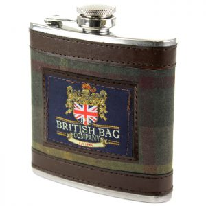 British Bag Company - Green Millerain Hip Flask