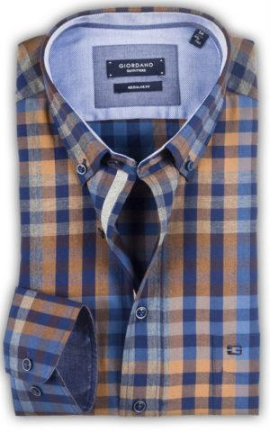 Giordano - Roosevelt Twill Check Shirt - Beige
