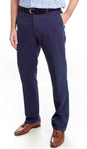 Bruhl Cotton Trousers - French Blue