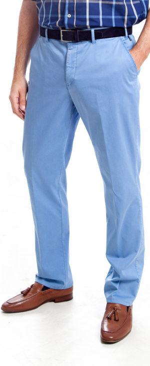 Bruhl Cotton Light Weight Trousers - Light Blue