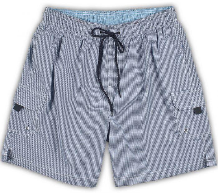 Baileys Swim shorts - Fine Navy Check