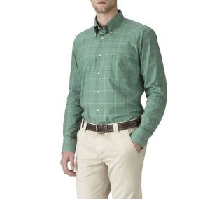 Barbour Ascot Shirt-Nevada Green