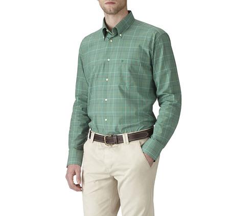 Barbour Ascot Shirt-Nevada Green