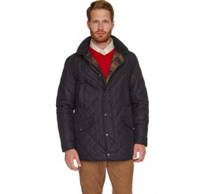 Barbour Hale Quilted Waterproof Jacket-Navy