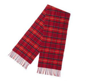 Barbour Tartan Lambswool Scarf - Cardinal Red