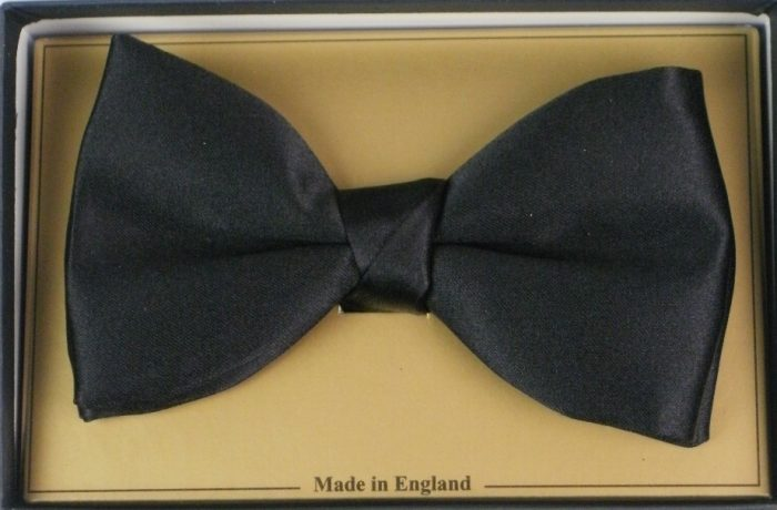 Hunt & Holditch Poly Satin Ready Tied Bow - Black