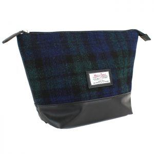 British Bag Company - Black Watch Harris Tweed Wash Bag