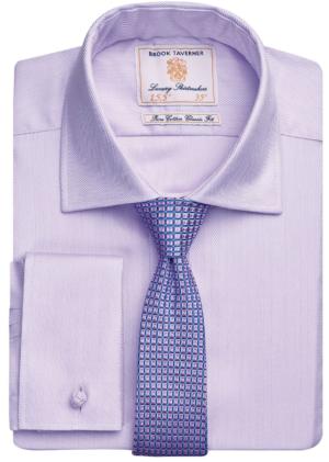 Brook Taverner Andora Double Cuff Herringbone - Lilac