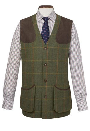 Brook Taverner Burghley Tweed Shooting Gilet