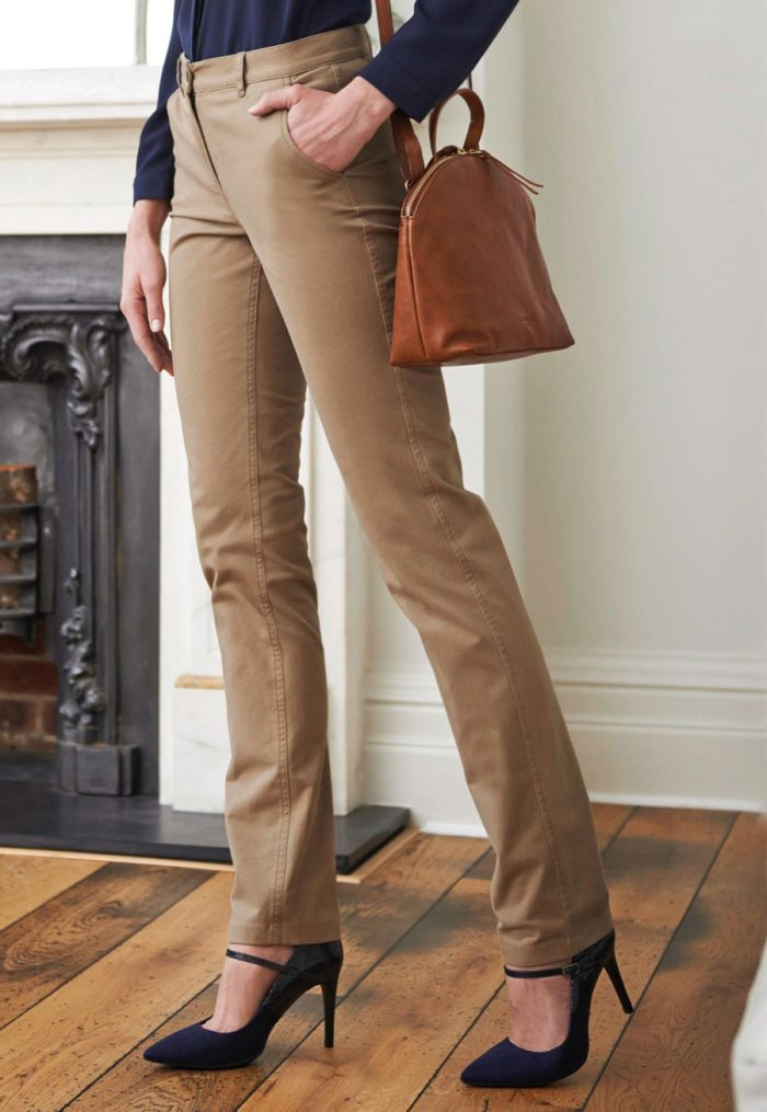 Brook Taverner Ladies Houston Slim Leg Chino
