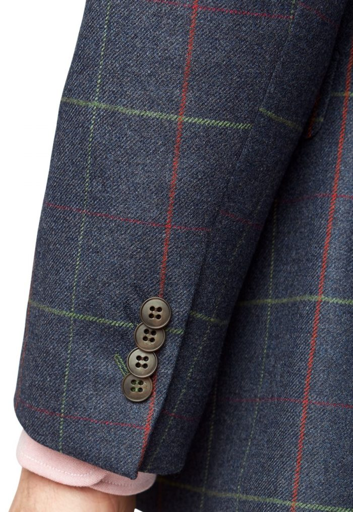 Brook Taverner Magnum 100% Wool Check Jacket