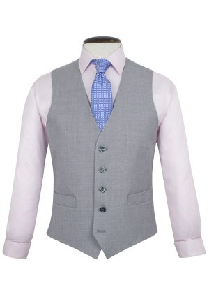 Brook Taverner Backless Waistcoat - Plain grey