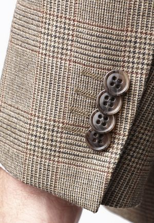 Brook Taverner Tennyson 100% Wool Country Check - Suit Jacket