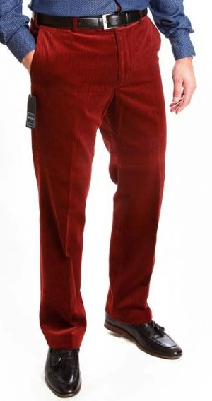 Bruhl Cotton Cord Trousers - Rust Red