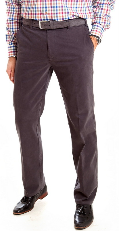 Bruhl Cotton Trousers Montana Fit - Grey