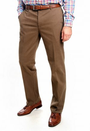 Bruhl Cotton Trousers Montana Fit - Khaki