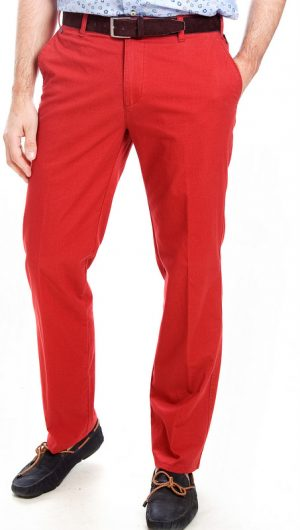 Bruhl Cotton Trousers - Red