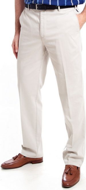 Bruhl Cotton Trousers - Stone