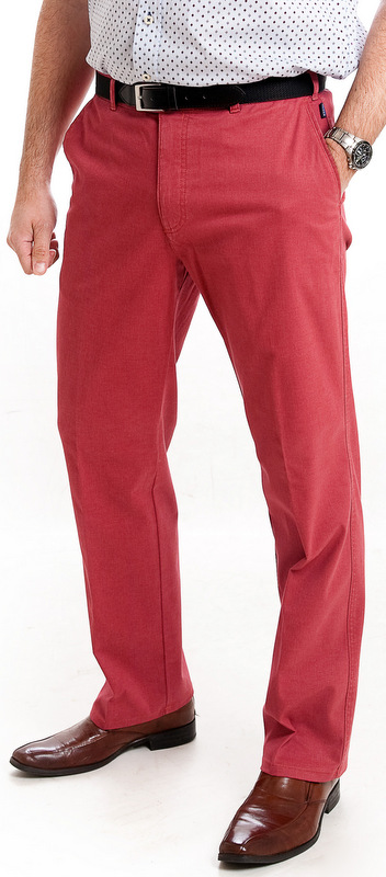 Bruhl Cotton Trousers - Washed Red