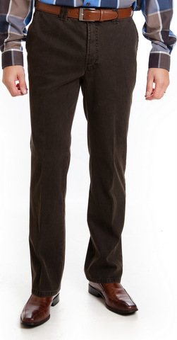 Club of Comfort  Cotton Trousers - Brown