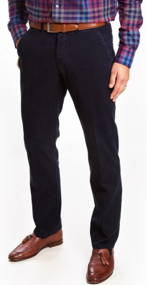 Club of Comfort Cotton Casual Trousers - Navy - Caspar