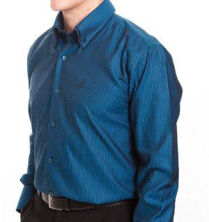 Culture Smart Shirt - Blue & Black Stripe