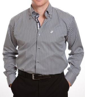Culture Smart Shirt - Grey Stripe