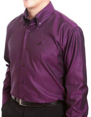 Culture Smart Shirt - Purple & Black Stripe