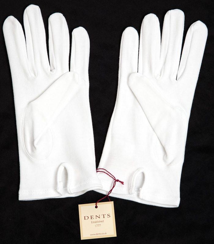Dents White Cotton Gloves