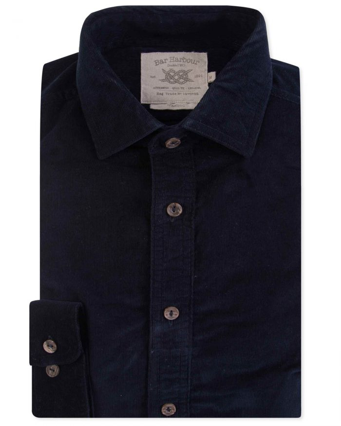 Double Two Corduroy Casual Shirt - Navy