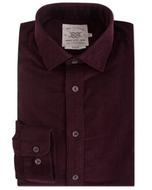 Double Two Corduroy Casual Shirt - Wine