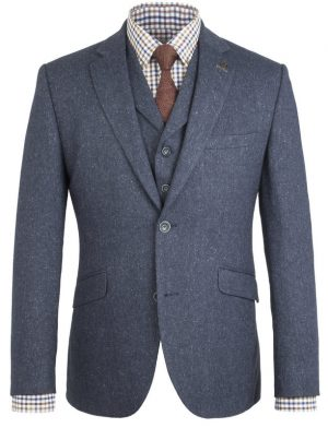 Peaky Blinders Inspired  Suit Jacket- Blue Fleck