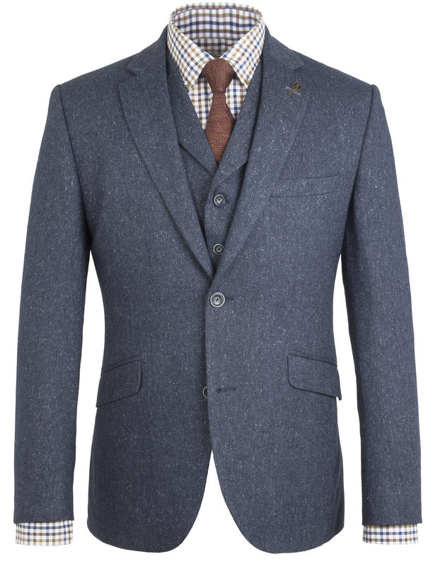 Peaky Blinders Inspired  Suit Jacket- Blue Fleck