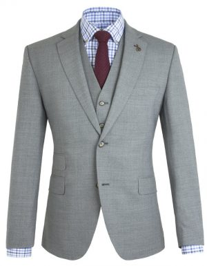 Gibson of London Suit Jacket - Grey Marl Semi Plain