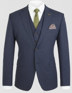 Gibson of London Suit Jacket - Plain Navy Twill