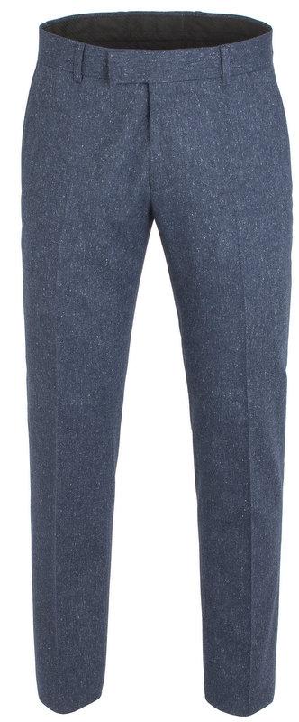 Peaky Blinders Inspired  Suit Trousers - Blue Fleck