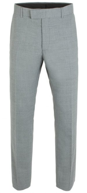 Gibson of London Suit Trousers- Grey Marl Semi Plain