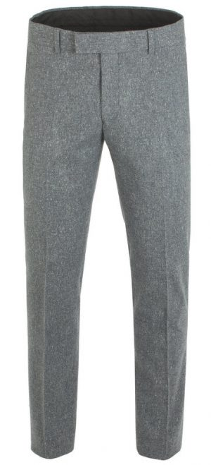 Peaky Blinders Inspired Suit Trousers - Gunmetal Grey Fleck