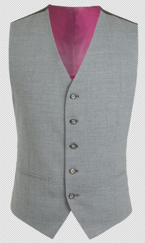 Gibson of London Suit Waistcoat - Grey Marl Semi Plain