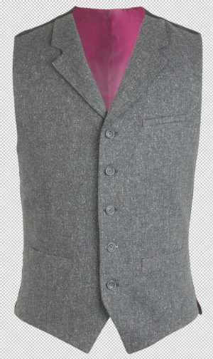 Peaky Blinders Inspired Suit Waistcoat - Gunmetal Grey Fleck