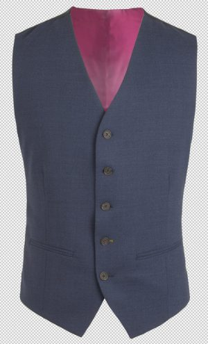 Gibson of London Suit Waistcoat - Plain Navy Twill