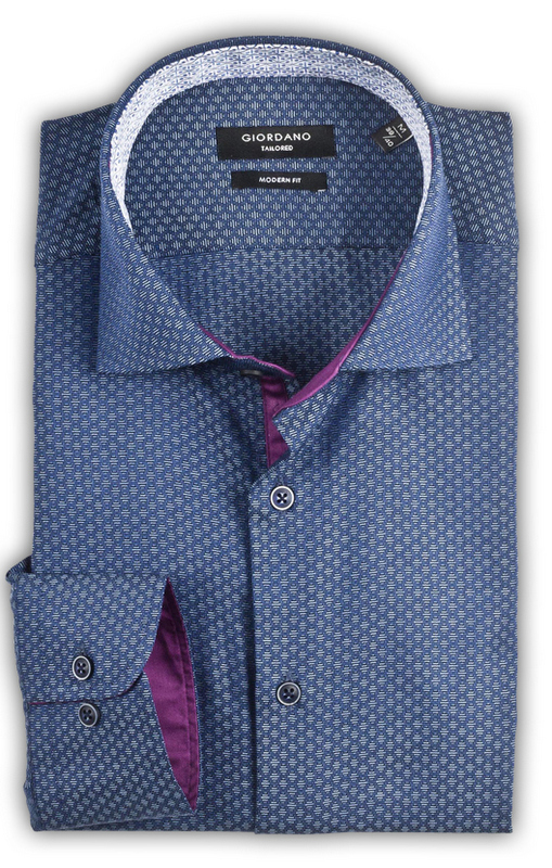 Giordano - Brooks Modern Fit Shirt - Blue