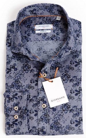 Giordano Tailored Fit - Blue Floral Design